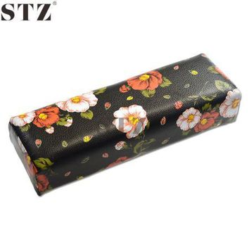 Nail Art Equipment Tool Flower Snake Patterns Nail Hand Rest Rectangle Leather Pad Nails Hand Pillow Beauty Salon Manicure ND279
