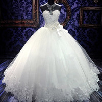 2014 Sexy bride wedding dress Royal style bandage princess dresses Free shipping DHL