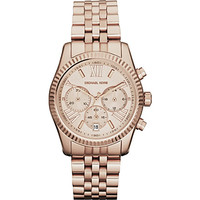MK5569 PVD rose gold-plated chronograph watch