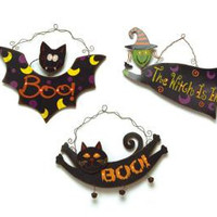6 Halloween Wall Decorations - Lights Up