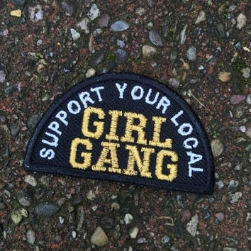 ON SALE GIRL Gang embroidered iron on patch / feminist embroidery