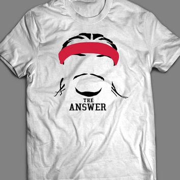 76ER'S ALLEN IVERSON THE ANSWER CUSTOM OLD SKOOL T-SHIRT