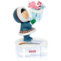 Frosty Friends Go Ice Fishing Ornament