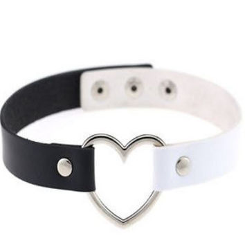 Black & White heart collar