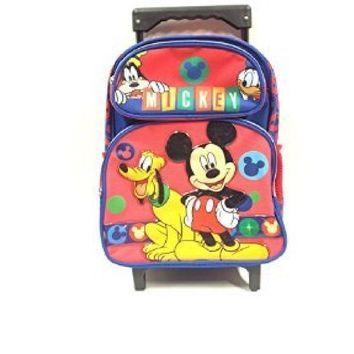New Mickey Mouse Small Toddler Rolling Backpack(2281)