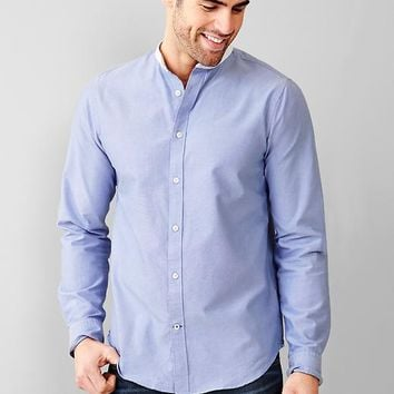 Gap Men Band Collar Oxford Shirt