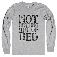 Not Getting Out of Bed-Unisex Heather Grey T-Shirt