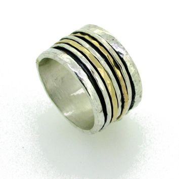 Two Tone Spinner Meditation Ring
