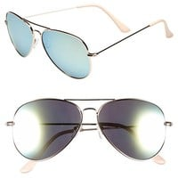 Junior Women's BP. Mirrored Aviator 57mm Sunglasses