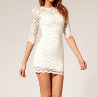 Sexy Dress with Lace Insert