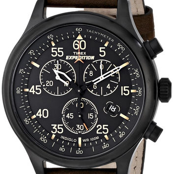 Timex Men's Expedition Field Chronograph Watch Brown/Black