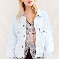 Urban Renewal Recycled Bleach-Out Denim Trucker Jacket- Indigo