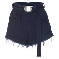 Frayed Indigo Cotton Short | Moda Operandi