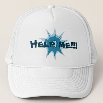 Blue bullet hole. Add your text. Trucker Hat