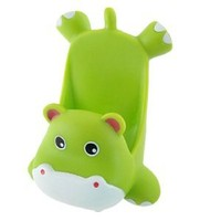 uxcell® Mobile Phone Green Plastic Cartoon Hippo Shape Stand Holder