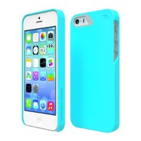 Tech Armor SlimProtect Grip Tough Scratch-Resistant Case / Cover for iPhone 5S / 5 (Turquoise/Gray) Lifetime Warranty