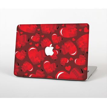 The Glossy Electric Hearts Skin for the Apple MacBook Air 13""
