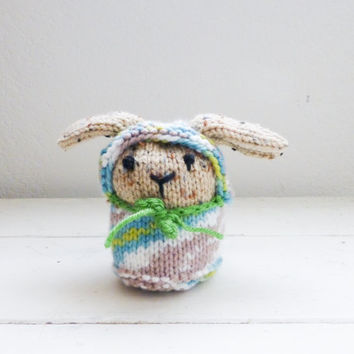 Dog stuffed animal, Knit puppy dog, Knit amigurumi puppy, Baby Shower Gift Idea - Ready to ship, handmade by Sixth and Durian