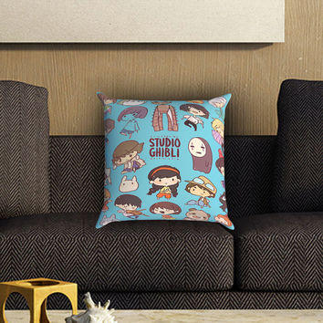 Studio Ghibli Pillow Cover , Custom Zippered Pillow Case One Side Two SIde