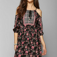 Staring At Stars 3/4-Sleeve Cold Shoulder Dress - Urban Outfitters