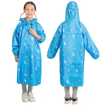 Children's Cartoon Pattern Climbing Raincoat With Backpack Placement 159 Jul 20