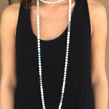 Pearly Gates Beaded Necklace