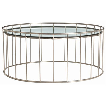 Olivia Iron Glass Cocktail Table