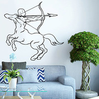 Sagittarius Centaur Archer Vinyl Decals Wall Sticker Art Design Living Room Modern Bedroom Nice Picture Home Decor Hall  Interior ki728