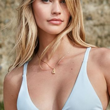 LA Hearts Chunky Ribbed Fixed Triangle Bikini Top at PacSun.com