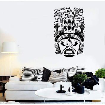 Wall Stickers Vinyl Decal Shaman Mask Inca Latin America Unique Gift (ig2052)