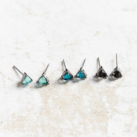Jewel Stone Post Earring Pack - Urban Outfitters