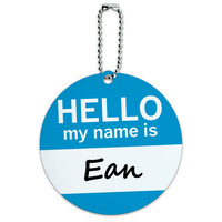 Ean Hello My Name Is Round ID Card Luggage Tag