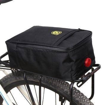 New Foldable Cycling Bicycle Bike Black Pannier Rear Seat Bag  Storage Rear Outdoor Bag Tail Pack with Warning light