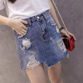 Summer Mini Denim Skirt