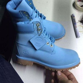 ONETOW Timberland Rhubarb Boots 10061 2018 Blue Waterproof Martin Boots