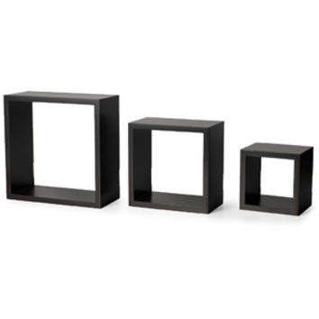 Walmart: Melannco Square Shelves, Espresso, Set of 3