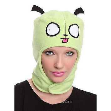 Licensed cool NEW Invader Zim Gir Dog Suit Head Face Pilot Beanie Hat w/Ears Laplander Ski Cap