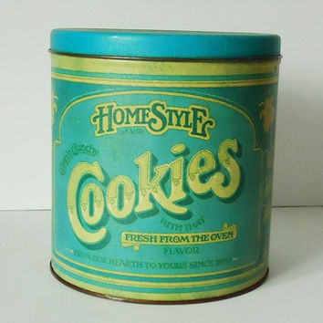 Ballonoff Pentron Cookie Canister - Vintage Cookie Tin - Vintage Old Style Kitchen Canister
