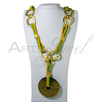 Handmade Necklace with golden chain