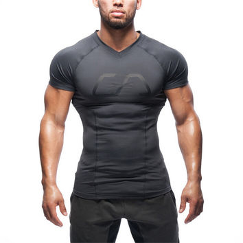 2016 High Quality Men  T-shirt Gymshark T Shirt Bodybuilding Tshirts Brand Clothing