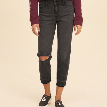 Girls High-Rise Slim Boyfriend Jeans | Girls Bottoms | HollisterCo.com