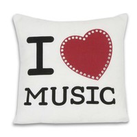 I Heart Music Pillow