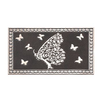 Shedding Tree with Butterflies Rubber Pin Doormat