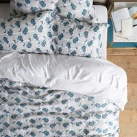 Kerry Cassill Paper Floral Duvet by Kerry Cassill in Light Grey