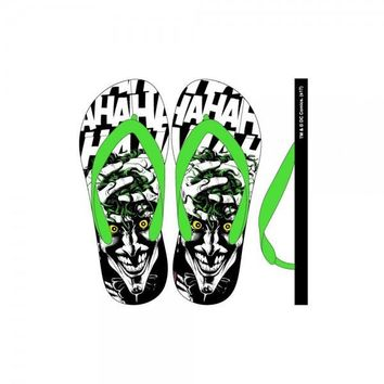 DC Comics Joker Unisex Flip Flops Bioworld Officially Licensed