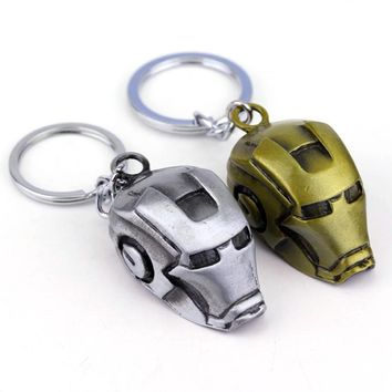 Hot Moives The Avengers Super Hero Ironman Pendant Keychain Marvel Metal Key Chain Ring Free Shipping
