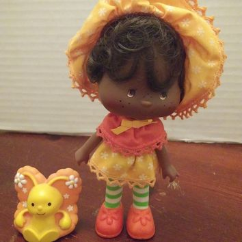 vintage 1980's strawberry shortcake orange blossom doll with pet