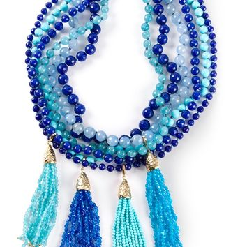 Rosantica Beaded Tassel Choker Necklace