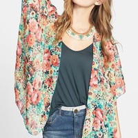 Band of Gypsies Print Chiffon Cardigan (Juniors)