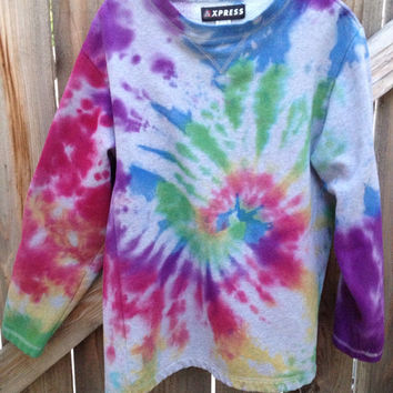 Adult Large Crewneck Tie Dye. FREE SHIPPING  by TieDyerann on Etsy